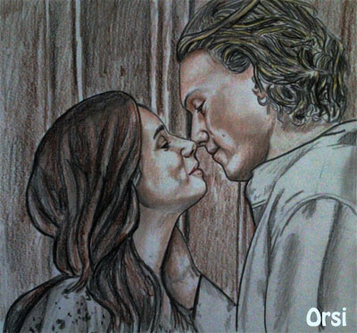 Lily Collins, Jamie Campbell Bower por Orsi